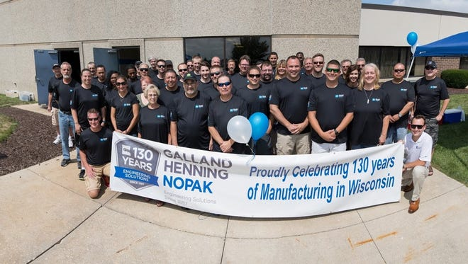 Galland Henning Nopak Inc., a fourth-generation family-owned business headquartered in Franklin, is celebrating 130 years of manufacturing in 2017.