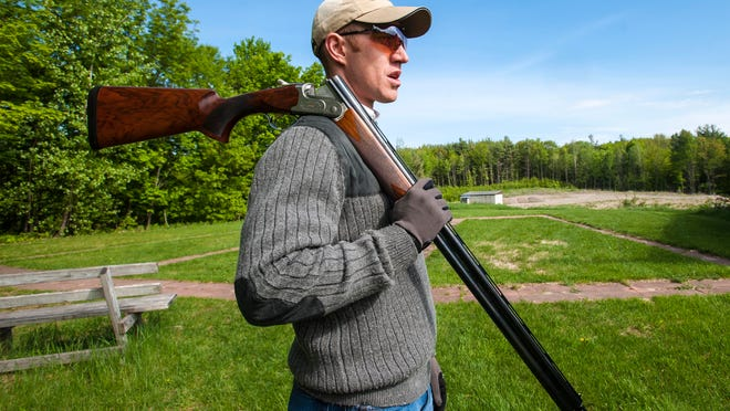 Bob Otty, president of the board at the North Country Sportsman's Club in Williston at the club's trap range on Thursday. The club has had several visits from police over the past few weeks. Officers say they are violating noise ordinances, but the Vermont Federation of Sportsmen's Clubs Inc. says municipalities cannot regulate firearm discharges at existing sport shooting ranges.