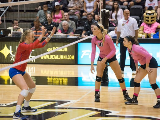 The UCF Women's Volleyball Team faced off against Southern