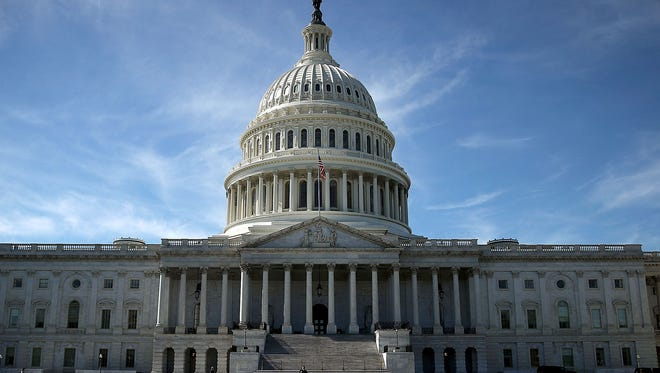The US Capitol is shown October 11, 2016 in Washington, D.C.