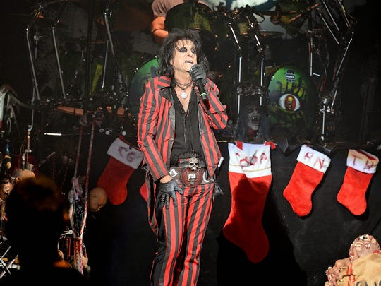 Alice Cooper at his annual Christmas Pudding show,