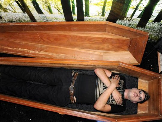 Darkness Vlad Tepes said he sleeps in this coffin.