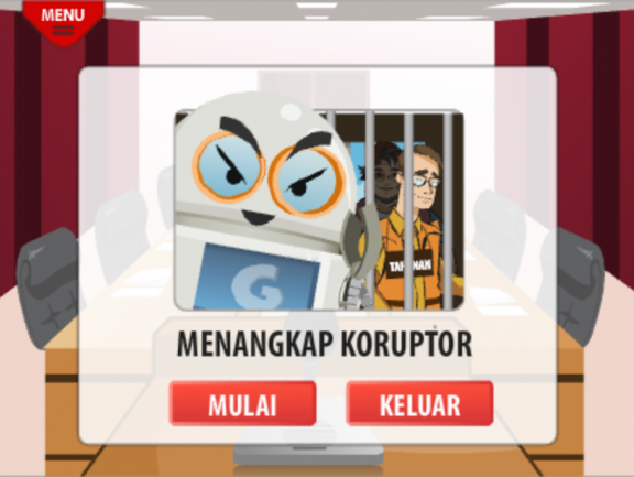 A screenshot from Indonesia's new anti-corruption app. Government watchdogs say the problem is so pervasive people don't know what's okay, and what's not.