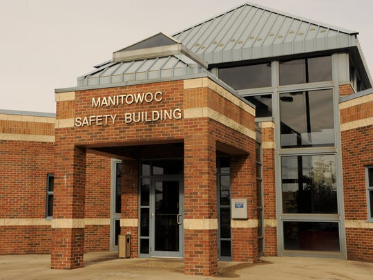 Manitowoc Police & Fire Departments entrance at the