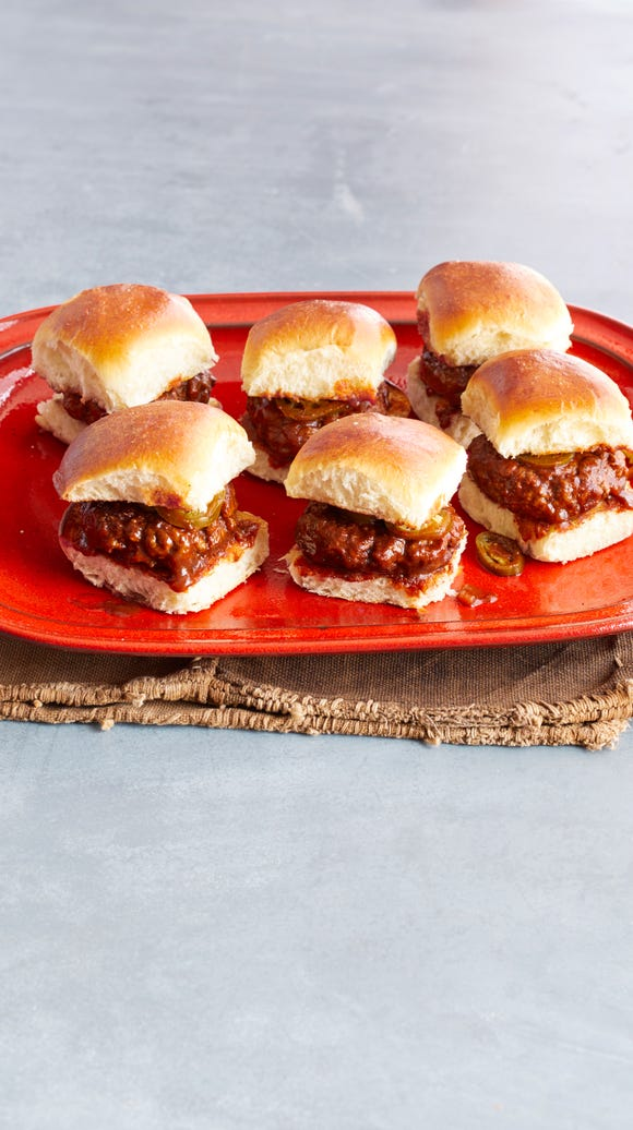 The Pioneer Woman's Spicy Whiskey BBQ Sliders.
