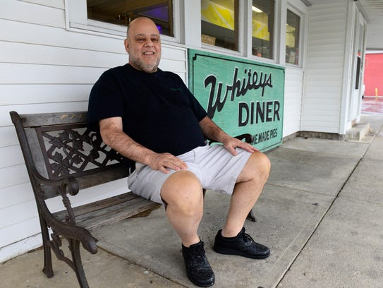 Mark Boukissen, owner of Whitey's Diner in Fremont, is back to work after receiving a kidney transplant in July.