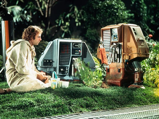 "Bruce Dern plays an eco-friendly astronaut who has tiny robots for companions in the sci-fi tale ""Silent Running"" (1972), being shown on Saturday at All Saints Cinema."