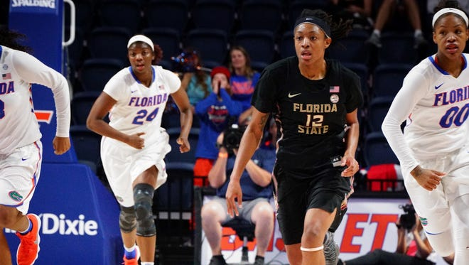 Among the top scorers on the Florida State women's basketball team, Nicki Ekhomu currently averages 16.0 PPG and 10.7 RPG