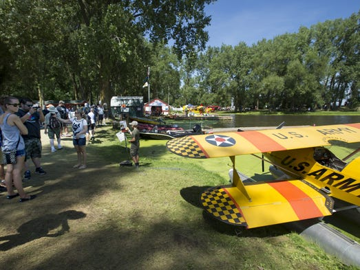 People find a bit of paradise out at the EAA Seaplane