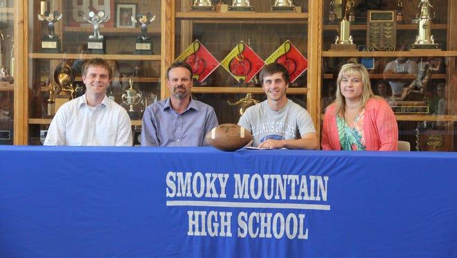 Smoky Mountain's Zack Bryson will kick at the next level for Illinois College.