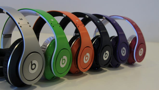 A rainbow of Beats by Dr. Dre headphones.