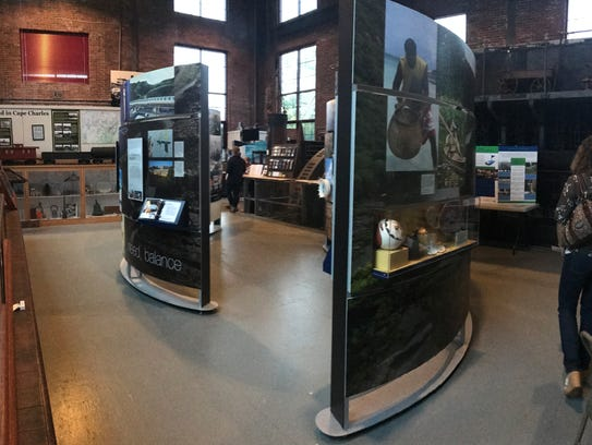 The Water/Ways exhibit highlights the critical resource