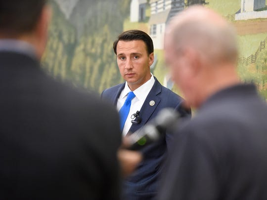 Congressman Ryan Costello, Pennsylvania's 6th Congressional District, held a town hall at Harrisburg Area Community College Lebanon Campus for constituents Thursday evening, August 17. Costello answered questions about a variety of topics for the hour and a half long event.
