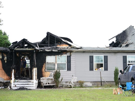 A home on Fire Tower Rd. in Laurel, Del. had significant