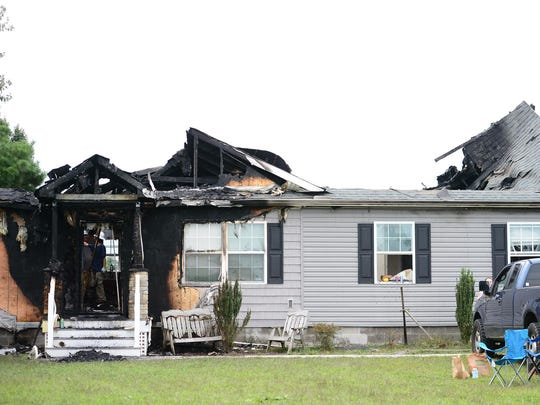 A home on Fire Tower Rd. in Laurel, Del. had significant damage from a fire Thursday, Sept. 12, 2017.