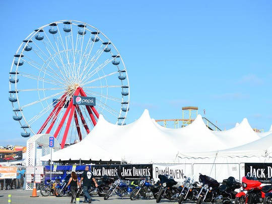 The Ocean City Inlet was loaded with motorcycles in