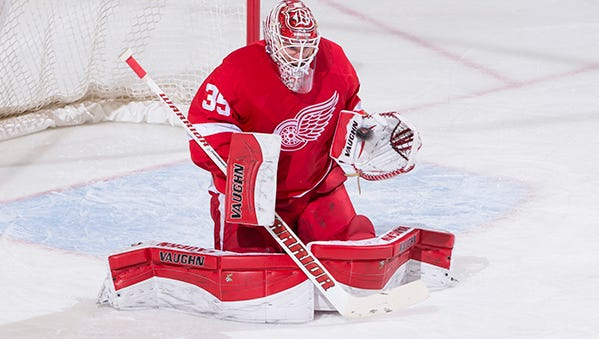 Jimmy Howard has a 2.43 goals-against average and a .911 save percentage in 50 games this season.