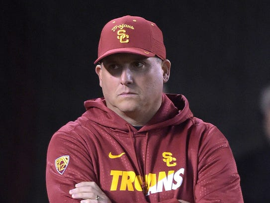Southern California coach Clay Helton hauled in a solid