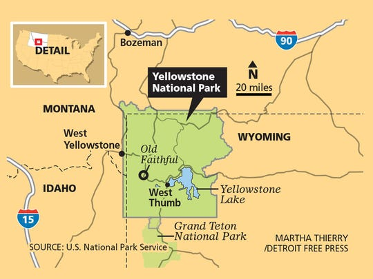 Yellowstone contains 3,472 square miles of park land to explore.