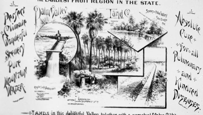 Palm Valley Land & Water Co. advertisement.