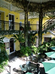 Courtyard of the Old Naples Pub