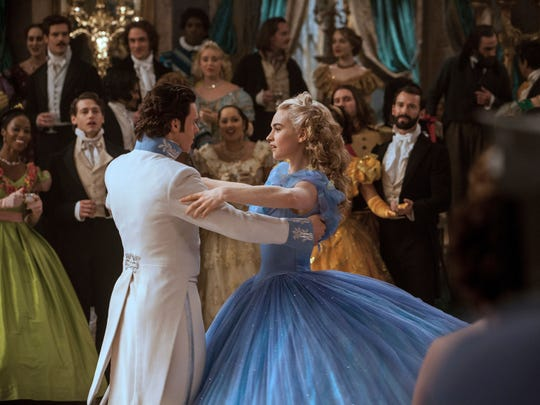 Richard Madden is Prince Charming, and Lily James fills Cinderella's glass slippers, in a fresh take on the Disney fairy tale.