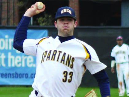 Enka alum Matt Frisbee is a freshman pitcher at UNC Greensboro.
