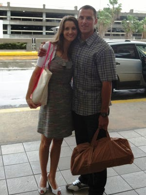 Anthony Curcio and his wife are reunited shortly after Curcio was released from prison.