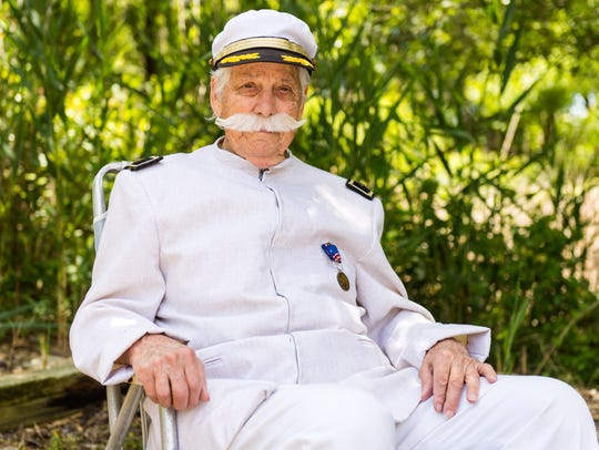 Thomas Creekmore dressed as Admiral Dewey on Friday,