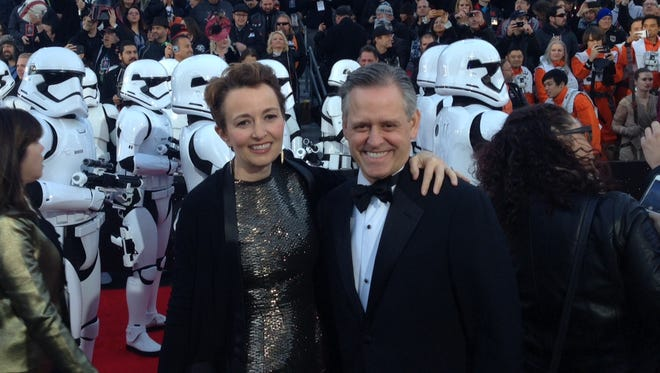 "Eastman Kodak Co. CEO Jeff Clarke and his wife, Suzette, at  Monday's premiere of ""Star Wars: The Force Awakens."""