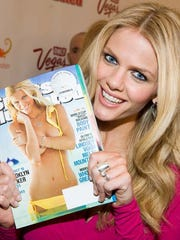 Model Brooklyn Decker attends the Sports Illustrated Swimsuit Issue Party in New York, Tuesday, Feb. 9, 2010.