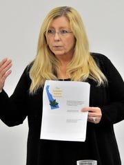Debra McPherson of Newark, speaking on behalf of the