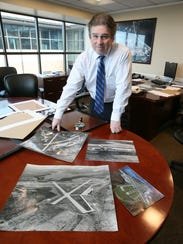 Peter Scherrer, the airport manager at the Westchester