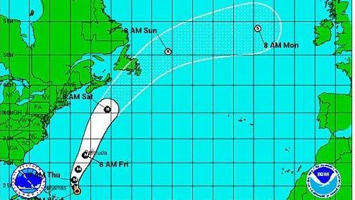 Hurricane Gonzalo, a Category 4 storm, heads toward Bermuda.