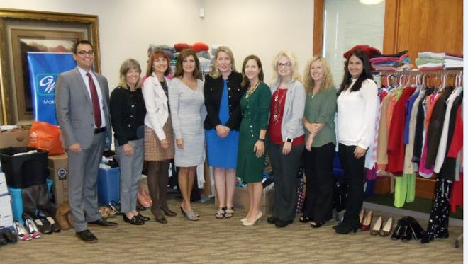 A group from Great Western donated 4,000 items to Dress for Success.