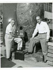 Glanville Smith, left, and Matt Weber at Cold Spring Granite Co. Weber served as a director of the granite company.