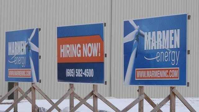 Marmen Energy is one of several businesses hiring in the Sioux Falls area.