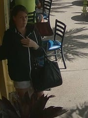 This unidentified woman has been ordering food and claiming it has glass in it.
