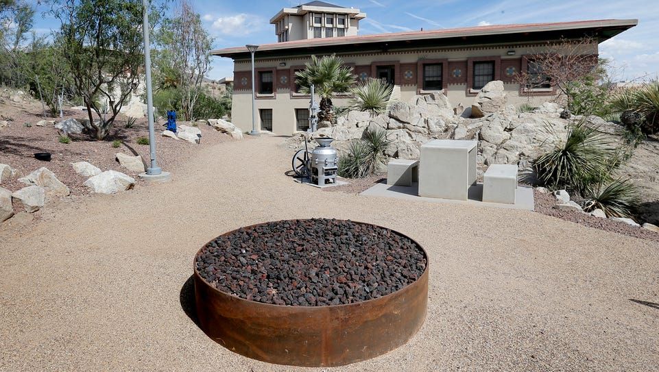 Mining Heritage Park at UTEP features an open area