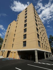 The exterior of the nearly completed Grace Terrace senior apartments in Mount Vernon, Aug. 8, 2016.