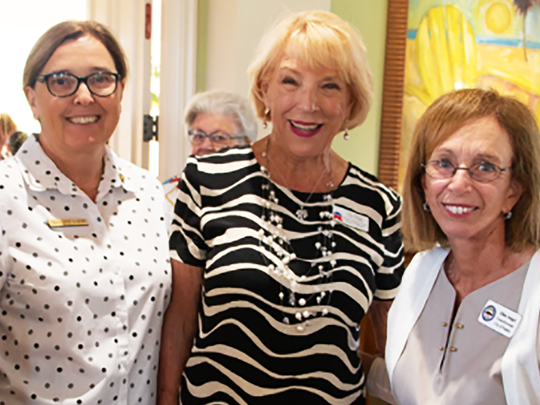 Mary Waller (President-WRC), Charlette Roman (Marco Island councilor) Litha Berger (VP-WRC) and Ellen Seigel (councilor, City of Naples).