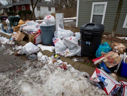 LAF Trash Left On Street