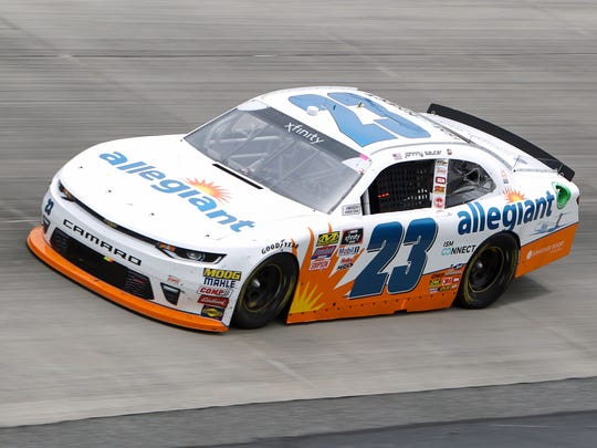 Filling in for suspended teammate Spencer Gallagher, Johnny Sauter finished sixth in Dover, Del., in his first Xfinity Series start in four years.