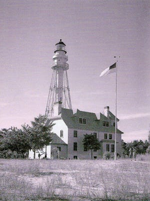 Rawley Point Lighthouse at Point Beach State Forest north of Two Rivers as seen in the 1940s by WOMT owner and avid photographer Francis Kadow.