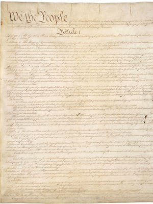 First page of U.S. Constitution