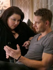 Kate (Chrissy Metz), left, and Kevin (Justin Hartley)