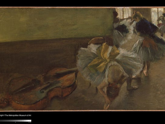 "Edgar Degas' ""Dancers in the Rehearsal Room with a"