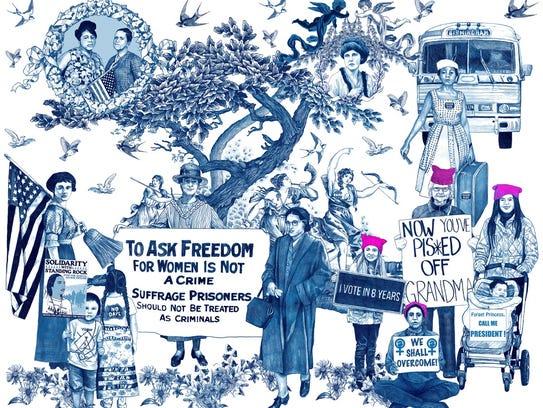 "Chappaqua Artist Laurel Garcia Colvin's artwork ""ReDress"""