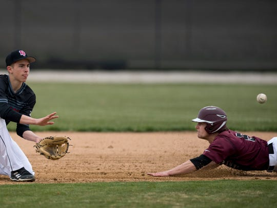 North Posey's Camden Bender fields a throw into second base. The baseball season was canceled before it began due to the spread of the coronavirus.
