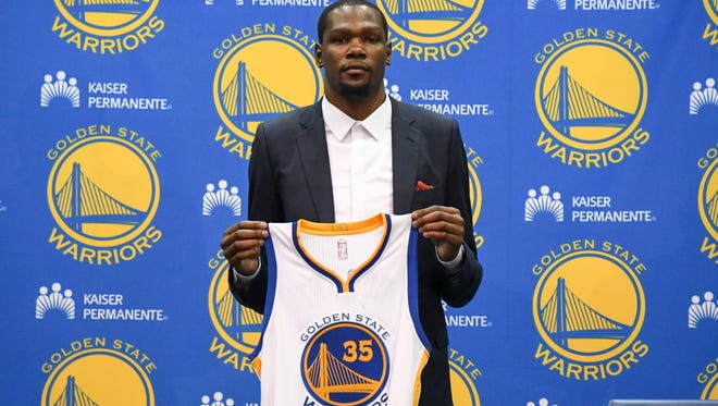 Kevin Durant is the newest star on a team of stars with the Golden State Warriors.